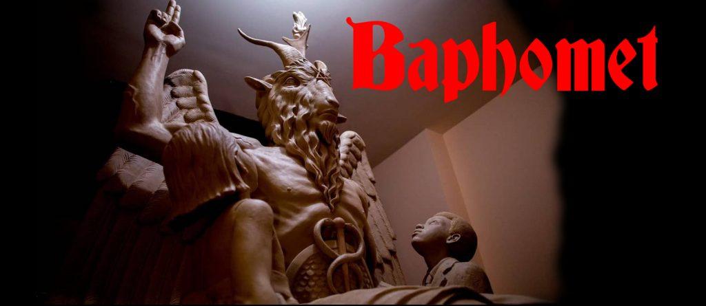 baphomet macho cabrio niños satanico