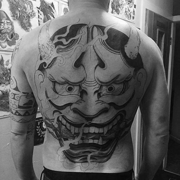 Tatuaje mascara japonesa hannya